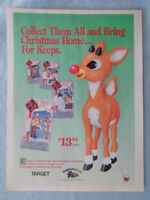 1990 Magazine Advertisement Ad Page For Rudolph VHS Movie Frosty The Snowman Ad