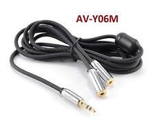 6ft 3.5mm Stereo Mobile-Type Male to 2-Female Audio Headphone Y-Splitter AV-Y06M