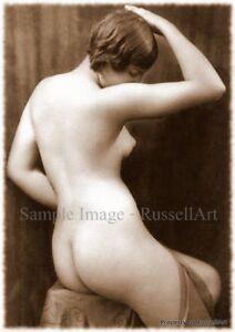 Vintage 18 Retro Erotic Nude female sepia A4 A3 A2 PHOTO EDIT REPRINT RussellArt