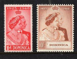 Dominica George VI Silver WEDDING Set SG;112/3 LMM