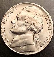 1979 D Jefferson Nickel Error Off Center Regular/Business Strike RPM Circulated