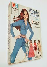Vintage 1960 Milton Bradley Magnetic Paper Dolls Magic Mary Lou (Rare Complete)