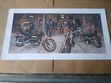 "1980 AMF Harley Davidson Motorcycle Posters - Martin Hoffman 18""x 9.5"" Print"