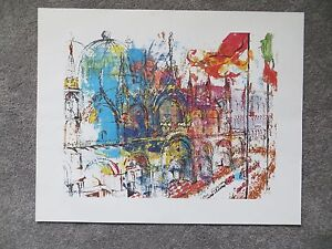 "Leroy Neiman print St. Mark's Venice 16"" X 20"" unframed unused"