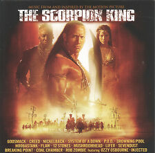 The Scorpion King by VA (CD, 2002 Universal) Soundtrack/Enhanced/Hard Rock-Metal