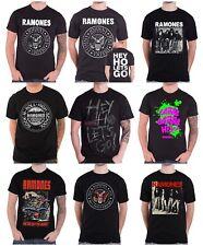 Official Ramones T Shirt Seal band logo Hey Ho lets go bowery NYC new mens
