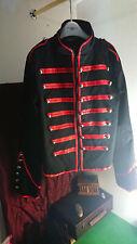 Living dead souls mens military punk steampunk jacket coat uniform XL