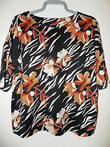 Autumn Multicoloured Soft Knit Top Size 14  Excellent Condition