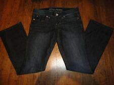Women's GUESS Sz 28 Dark Blue Daredevil Boot Cut Low Rise Jeans