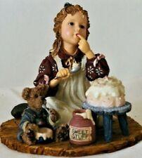 Boyds Dollstone 3560 Sarah Anne w/ Duncan.Icing On The Cake Figurine