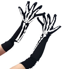 Halloween Horror Skeleton Claw Skull Gloves Elbow Length Cosplay Props Cosy