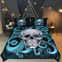3D Octopus Skull Bedding Set Duvet Cover Comforter Cover PillowCase