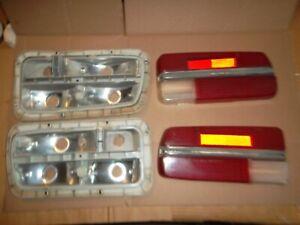 USED Pair (2) Datsun 240?/260Z Taillight Housings & Lenses 70-73, Left/Right