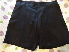 ADIDAS CLIMALITE Men's Solid Black Golf/Casual Shorts Size- 40 x 9.5   Polyester