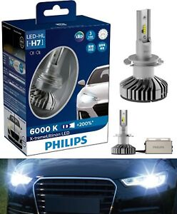 Philips X-Treme Ultinon LED 6000K White H7 Two Bulb Head Light High Beam Lamp OE