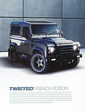 2012 Land Rover Defender French Edition Vintage Advertisement Car Print Ad J385