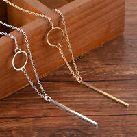 Elegant Charm Simple Necklace Long Sweater Chain Pendant Gold Plated Jewelry
