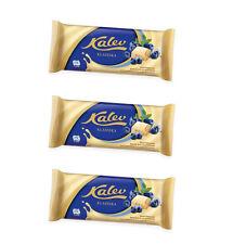 3 x Kalev White Chocolate with Rice Crisps & Blueberry Bits 3 x 95g 3.4oz