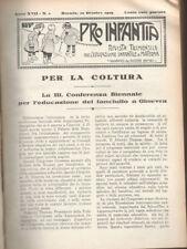 """""""PRO INFANTIA"""" anni 1929/30; raccolta didattica ad uso dei docenti"""