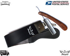 VINTAGE - BARBER SALON STRAIGHT CUT THROAT SHAVING RAZOR With Leather strop/Belt