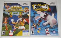 Nintendo Wii Game Lot - Sega Superstars Tennis (New) Rayman Raving Rabbids (New)