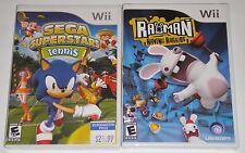 Nintendo Wii Game Lot - Sega Superstars Tennis (New) Rayman Raving Rabbids (New)