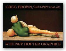 CUISINE ART PRINT Reclining Salad Greg Brown