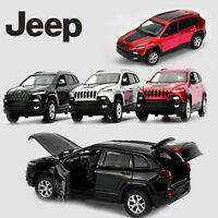 1:32 Jeep Cherokee Diecast Model Metal Alloy Pull Back SUV Car Kid LED Light Toy
