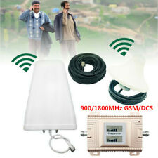 Verstärker Komplett Set mit Antenne 900/1800MHz GSM/DCS Repeater Booster NEW