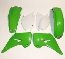 Kit plastiques UFO couleur origine vert/blanc Kawasaki KX125/250 2005-2008