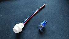 Sidelight / Pilot / Parking Light Bulb Holder  12 volt Blue LED - 14mm hole