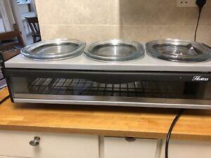 Hostess H0392BL Buffet Server - Pyrex Glass Dishes - Brand New Broken handle !!