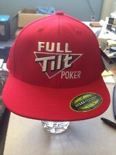 (2) Full Tilt Poker Flexfit Hats M/L