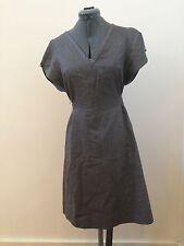 Cotton INDUSTRY Gray Summer Tie Back Vintage Dress Size Medium Waist Tie Back