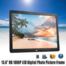 AU ! 15.6'' HD 1080P LED Digital Photo Picture Frame Movie Player Remote Control
