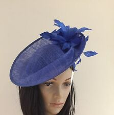 NIGEL RAYMENT ROYAL BLUE WEDDING ASCOT FASCINATOR Disc Hat MOTHER OF THE BRIDE