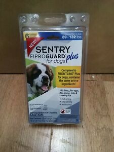 SENTRY Fiproguard Plus Flea & Tick Prevention for L Dogs 89-132 lbs 6 Month
