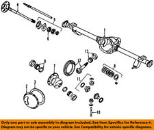 Jeep CHRYSLER OEM 84-92 Cherokee Rear Differential-Gear Kit 83503068