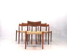 6 Set TEAK dining chairs Yngve Ekstrom for troeds 60 anni lui