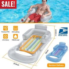 59in Inflatable Pool Swimming Floating Chair Pool Seats Lazy Water Bed Lounge