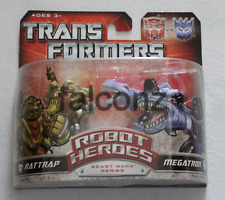 Transformers Robot Heroes Rattrap and Megatron MISP Brand New