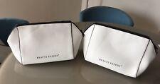 BEAUTY EXPERT - 2 x White Premium Cosmetic Wash Bags