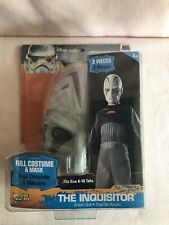 New Disney Star Wars The Inquisitor Action Suit Costume & Mask M 8/10 Halloween