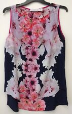 House Of Cannon Ladies Floral Silk Sleeveless Top Size 12