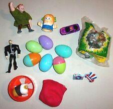 Lot of Child Boys Toys Plastic Eggs Play Figures Easter Basket Filler Ec