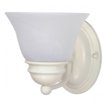 NUVO 60-352 1-Light Wall Mounted Vanity Fixture in Textured White Finish
