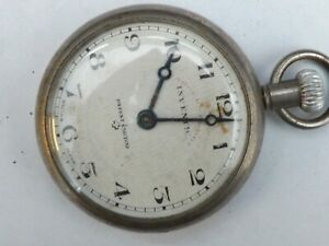 """a vintage plated cased """"inventic"""" top wind pocket watch -"""