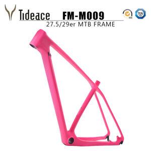 Pink Carbon Fiber Mountain Bike Frame 29er T800 MTB 12*142 MTB Bicycle Frame OEM