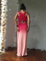 EMU Australia AllSeasons Merino Wool Multi-Coloured Gradient Long Dress S $249