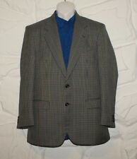 """Colored Checkered Wool MARK & SPENCER Button Hip Length Jacket Blazer Size 38"""""""